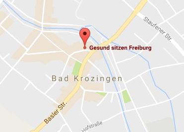 Google Anfahrt Gesund-sitzen-Freiburg